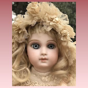 "STUNNING Jumeau Portrait French Bebe Doll 14"" All Antique Clothing and Shoes"
