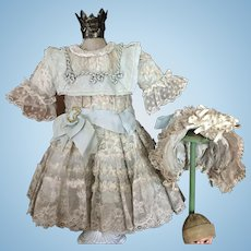 "Gorgeous Jumeau Doll Dress Bonnet by Annette Knuppel ""When Dreams Come True"""