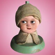 Vintage 1920's Dolls Head Hat/Wig Stand