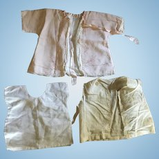 Lot of 3 Vintage Baby or Large Doll Tops/Undergarments