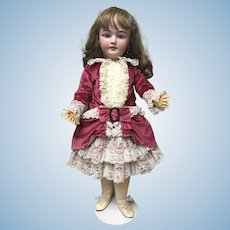 Pretty Pink Velvet Artist Made Dress Jumeau Bru Steiner Doll