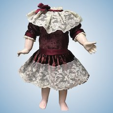 GORGEOUS  Artist Made Antique Doll Dress Jumeau Bru Steiner