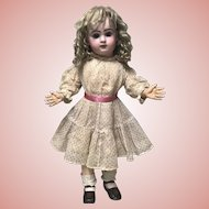 Antique Flower Print Dress Jumeau Bru Steiner French German Large Doll