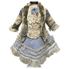 Beautiful Antique Doll Dress  Jumeau Bru Steiner