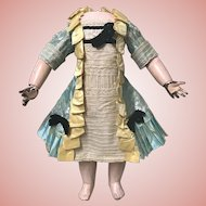 Stunning AUTHENTIC ANTIQUE Dress for Large Dolls Bru