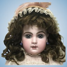 SALE***Blue Eyed Beauty EJ  Jumeau Doll E 10 J Gold Horse