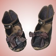 Antique Jumeau Bee Stamped Doll Shoes Size 10