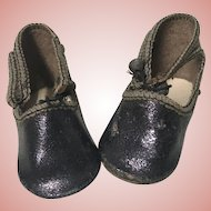 Antique Leather Shoes for Small Doll