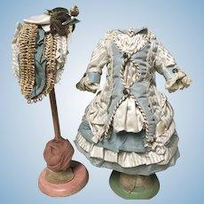 SWEET  Antique Doll Dress & Bonnet Jumeau Bru by Annette When Dreams Come True