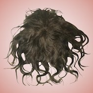 Antique Brown Mohair Doll Wig TLC