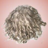 "Sweet Antique Blonde Mohair Doll Wig 10"" Circ. TLC Jumeau Bru Steiner"