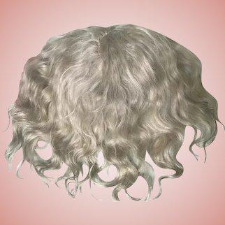 "SALE***Antique Blonde Mohair Doll Wig 11"" Circ. Jumeau Bru Steiner"