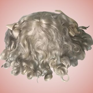 "SALE***Adorable Antique Blonde Mohair Doll Wig 10-1/2"" Circ."