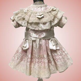 Sweet Pink Dress for Jumeau Bru Schmitt Doll