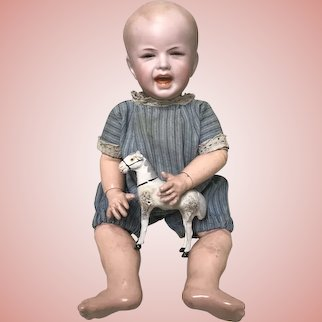 RARE Mold 233!!  Darling Antique SFBJ Boy Doll Crying/Screaming/Laughing