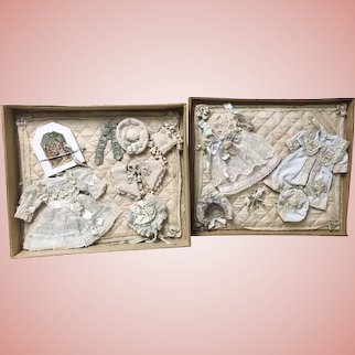 Beautiful Presentation Box Set Trousseau for Small Antique dolls by Annette WDCT
