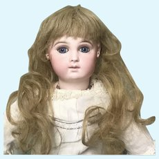"""Authentic Jumeau 9"""" Strawberry Blonde Wig"""