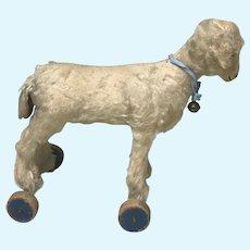 Antique Steiff FF Button Lamb Sheep