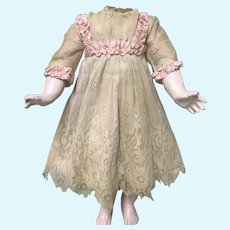 SWEET  Antique Doll Dress Jumeau Bru