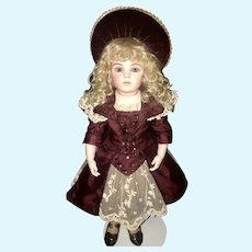 Beautiful Antique Doll Dress Artist Made Jumeau Bru Steiner