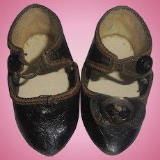 ON HOLD!!!!     Rare Antique Bru Doll Shoes Size 5 Marked BRU Jne