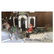Christmas Clockwork  Nodder Reindeer , Santa Sleigh