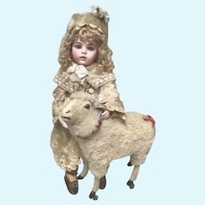 SWEET  Antique Doll Mohair Coat Hat Muff Jumeau Bru