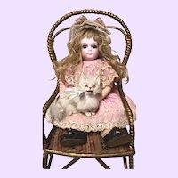 SWEET  Antique Doll Chair Jumeau Bru