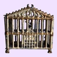 Adorable Antique Doll Dollhouse Birdcage