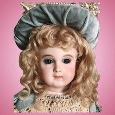 "GORGEOUS 15"" Schmitt Et Fils Blue Eyed Antique Doll Size 1"