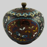 Antique Japanese Meiji Cloisonne Jar