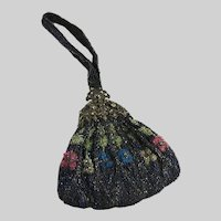 Antique Beaded Bag Filigree Frame