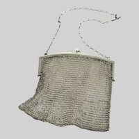 Vintage Sterling Silver Chainmail Mesh Bag