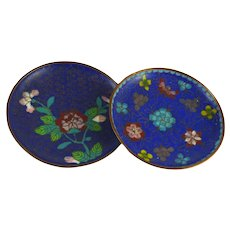 Two Vintage Chinese Cloisonne Pin Dishes