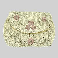Vintage 1920s Beaded Clutch Bag