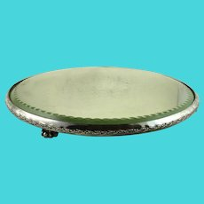 Antique Pairpoint Silver Plate Mirror Plateau