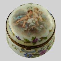 Vintage Porcelain Dresser Jar France