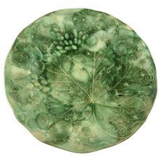 Vintage Majolica Leaf Plates Set of Four