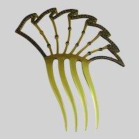 Art Deco Vintage Celluloid Rhinestone Comb