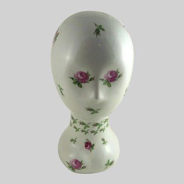 Vintage Porcelain Mannequin Head French