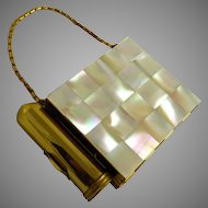 Vintage Mother of Pearl Dance Compact or Carryall