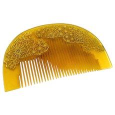 Vintage Japanese Kushi Hair Ornament Comb