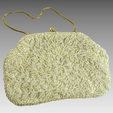 Vintage Mid Century Beaded Sequined Evening Bag