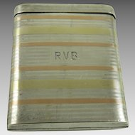 Vintage Art Deco Sterling Silver Cigarette Case Flip Top