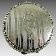 Vintage Art Deco Sterling Silver Compact