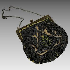 Vintage Beaded Evening Bag Hand Made in France