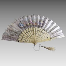 Antique Victorian Hand Fan