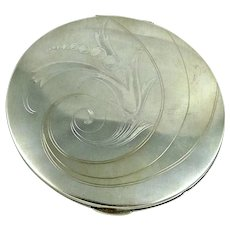 Vintage Elgin American Sterling Silver Compact