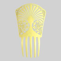 Vintage Art Deco Mantilla Comb Celluloid