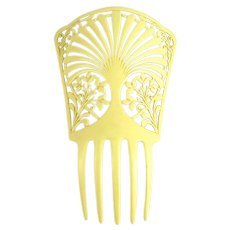 Vintage Art Deco Mantilla Comb Celluloid